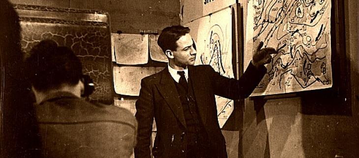 Première diffusion en direct à la télévision du bulletin météo le 17 décembre 1946
